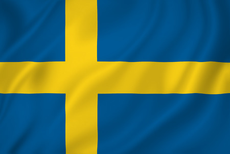Swedish national flag background texture. Imagens