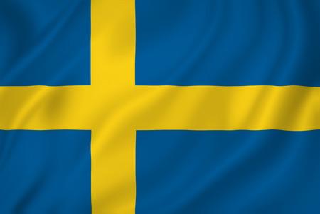 Swedish national flag background texture. Stock Photo