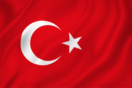Turkish national flag background texture.