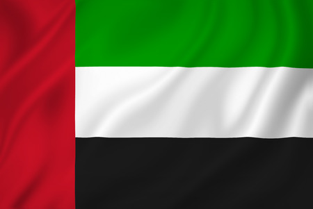 UAE flag patriotic background texture. Imagens