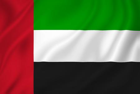 UAE flag patriotic background texture. Stock Photo