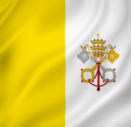 Vatican national flag background texture.