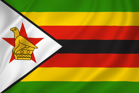 zimbabwe: Textura del fondo de la bandera nacional de Zimbabwe. Foto de archivo