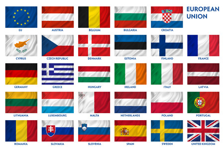 bandera de suecia: Textura fondo de la bandera nacional brit�nica. Foto de archivo