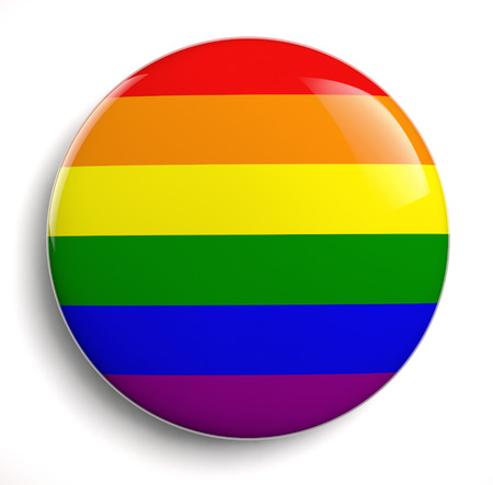 gay pride flag: Gay pride design icon isolated