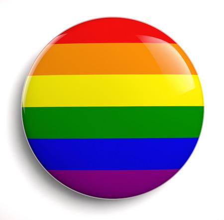 bandera gay: Icono del diseño del orgullo gay aislado