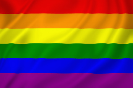 3d rainbow: Gay pride flag texture background