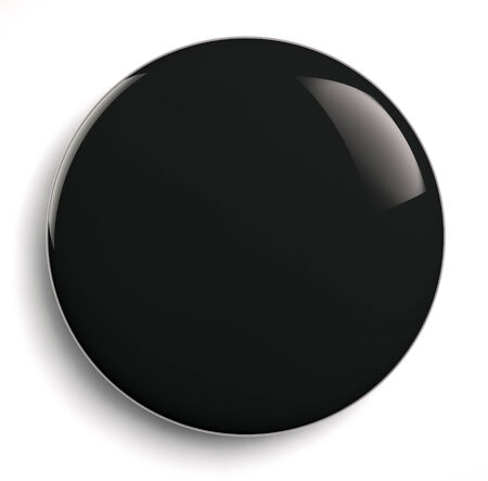 campaigns: Black badge button isolated on white.
