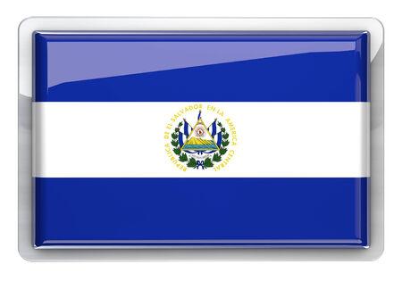 bandera de el salvador: Bandera de El Salvador aislado icono. Foto de archivo