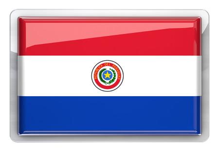 Paraguay flag: Paraguay bandera icono elemento de dise�o. Foto de archivo