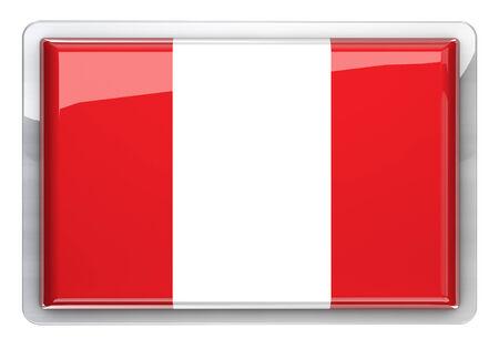 bandera de peru: Perú bandera icono elemento de diseño.