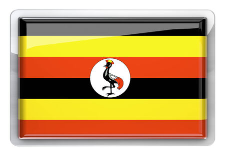 ugandan: Uganda flag icon design element. Stock Photo