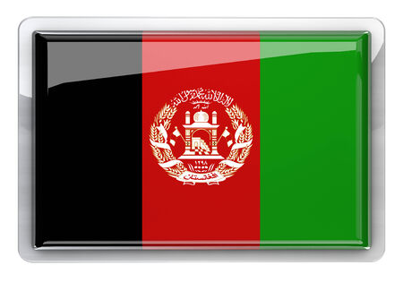 afghanistan flag: Afghanistan flag icon design element.