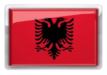 albania: Albania flag icon design element.