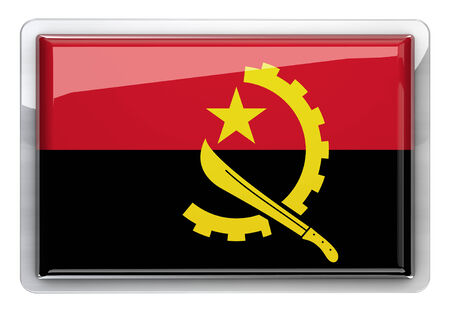 angola: Angola flag icon design element.