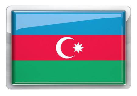 azerbaijan: Azerbaijan flag icon design element.