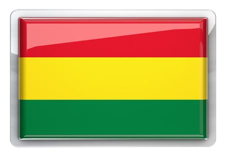 bandera de bolivia: Bolivia bandera icono elemento de dise�o. Foto de archivo