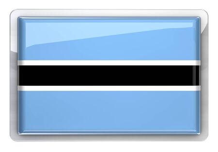 botswana: Botswana flag icon design element.