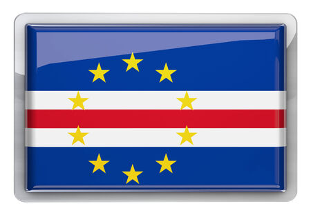 cape verde flag: Cape Verde flag design icon.