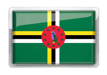 dominica: Dominica flag icon design element. Stock Photo