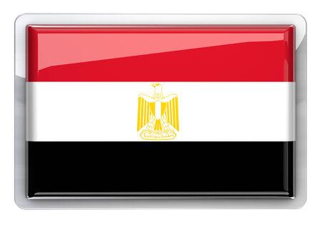 bandera de egipto: La bandera de Egipto icono de elemento de diseño.