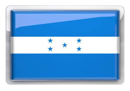 bandera honduras: Honduras bandera icono elemento de diseño. Foto de archivo