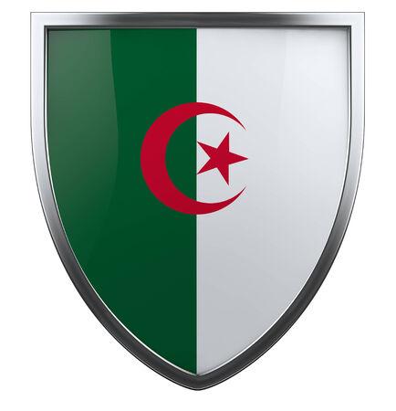 algerian flag: Algeria national flag design element. Stock Photo