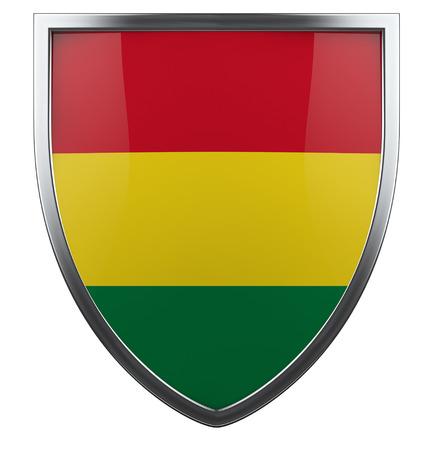bandera de bolivia: Bolivia icono de dise�o del escudo de la bandera. Foto de archivo