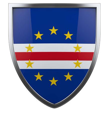 cape verde flag: Cape Verde national flag design icon. Stock Photo