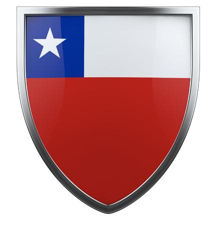 Chile flag shield design icon. photo