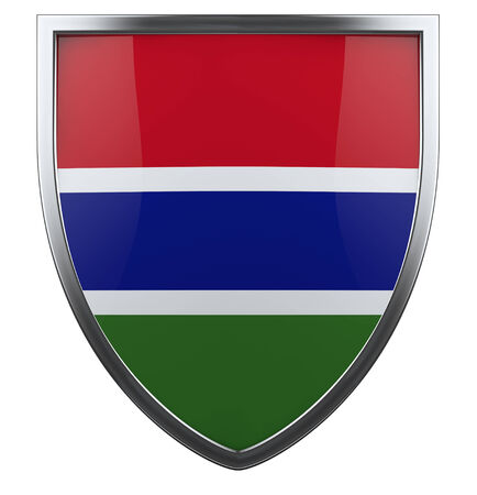 Gambia national flag design element.