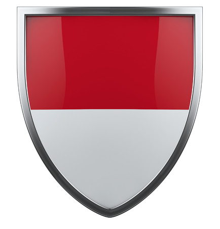 indonesian flag: Indonesia flag shield isolated icon.