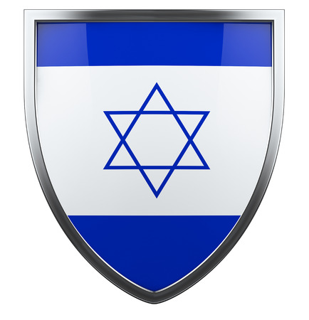 Israel flag design shield icon. photo