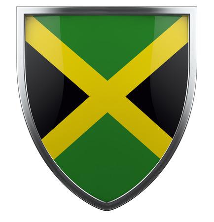 jamaican flag: Jamaica national flag design element. Stock Photo