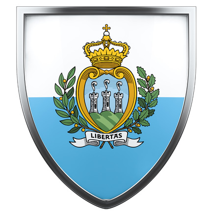 sammarinese: San Marino bandiera elemento di design.