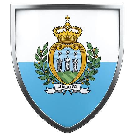 san marino: San Marino flag design element. Stock Photo