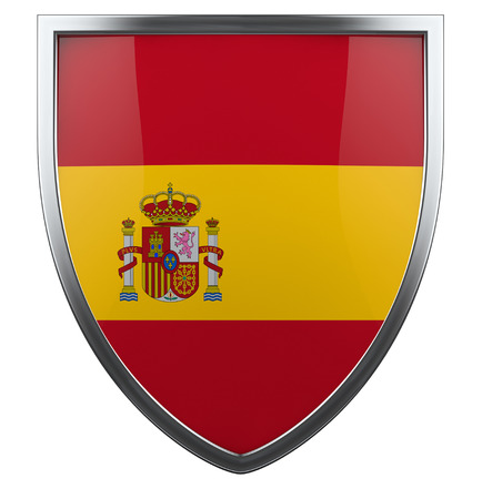 Spain flag shield isolated icon. photo