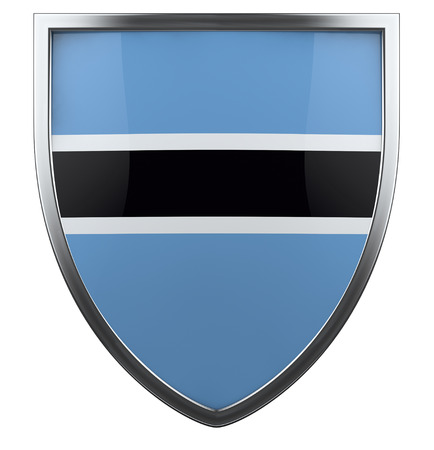 botswana: Botswana flag shield design icon.