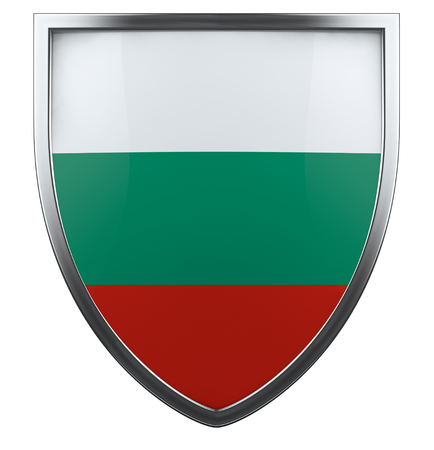 Bulgaria flag shield isolated icon. photo