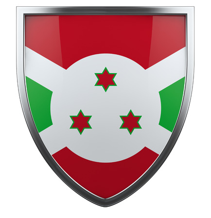 burundi: Burundi national flag design icon. Stock Photo