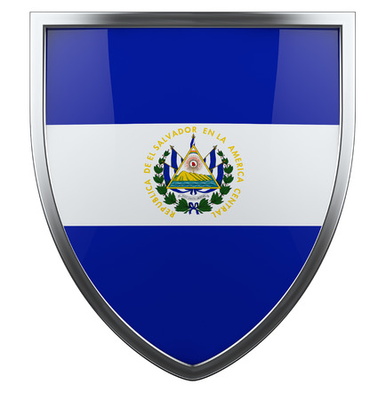 El Salvador flag design shield. photo