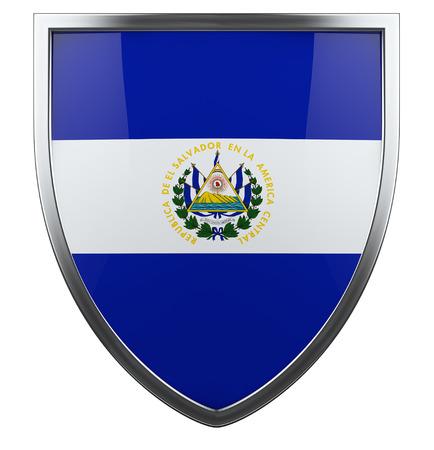 el salvador flag: El Salvador flag design shield. Stock Photo