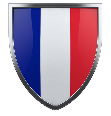 France flag shield isolated icon. photo