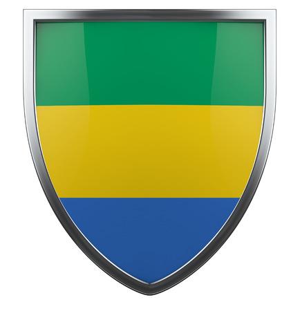 gabon: Gabon national flag design element.