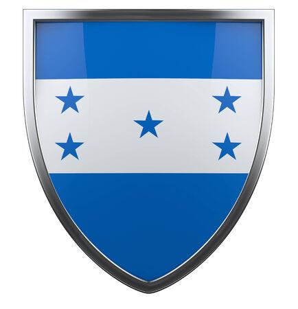 bandera honduras: Bandera nacional Honduras aislado icono. Foto de archivo
