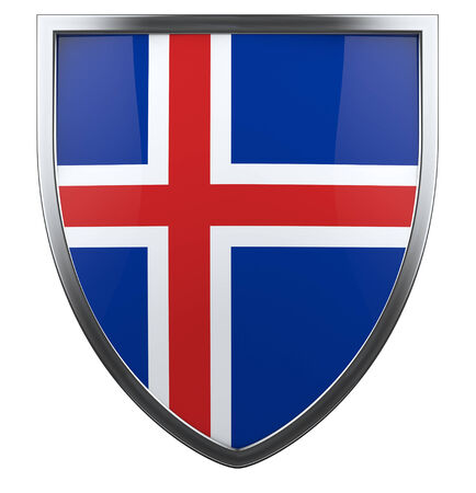 Iceland national flag design element. photo