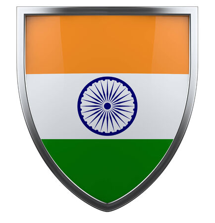 India flag shield design icon. photo