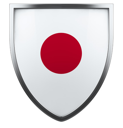 Japan national flag design element. photo