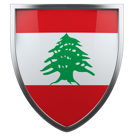 Lebanon national flag design element. photo