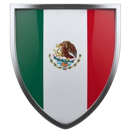 Mexico national flag design icon. photo